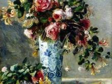 1726_50х40_П.О. Ренуар - Розы и жасмин в дельфтской вазе