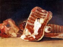 1727_60х42_Ф. Гойя - Натюрморт с головой барана