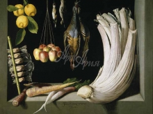 1735_80х62_Х. С. Котан - Натюрморт с дичью, овощами и фрукатми