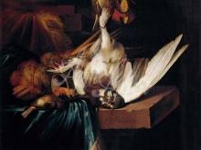 1736_80х64_Ян Батист Веникс - Натюрморт с битой птицей на каменном столе