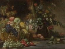 1860_70х57_П. О. Ренуар - Натюрморт с фруктами и цветами