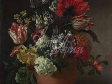 1862_80х63_Рашель Рюйш - Чаша с цветами