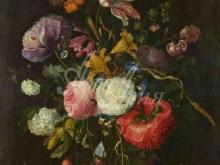 1863_80х63_Якоб ван Валскопелл - Цветы в стеклянной вазе