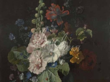 1864_80х68_Ян ван Хейсум - Мальвы и другие цветы в вазе