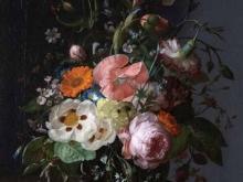 1870_80х63_Рашель Рюйш - Натюрморт с цветами в вазе