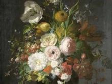1871_80х64_Рашель Рюйш - Цветы в стеклянной вазе