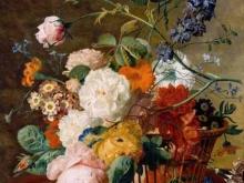 1881_100х76_Ян ван Хейсум - Корзина с цветами и бабочки