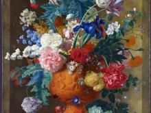 1886_100х70_Ян ван Хейсум - Цветы в терракотовой вазе
