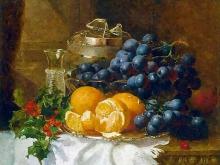 3238_45х36_Натюрморт - Виноград и апельсины