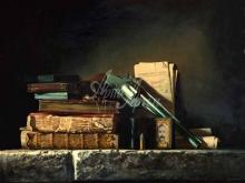 3403_55х44_А.Н.Антонов - Натюрморт с пистолетом и книгами