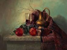 3411_60х48_А.Н.Антонов - Натюрморт с персиками