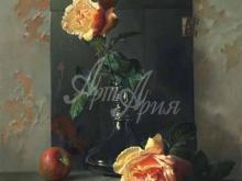 3457_90х72_А.Н.Антонов - Натюрморт с розами в студии