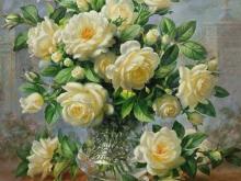 3610_Альберт Уильямс - Розы принцессы Дианы в стеклянной вазе