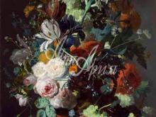 1474_90х69_Ян ван Уйсум - Натюрморт с цветами и фруктами