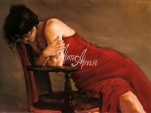 3106_90x60 М-Дж.Остин - Красное платье