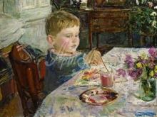 2113_40x29 Пластов А.А. - Внук рисует 1959