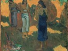 1908_100х93_Поль Гоген - Три таитянки на желтом фоне