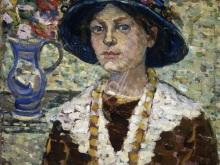 1293_60х51_Морис Бразил Прендергаст - Портрет девушки с цветами