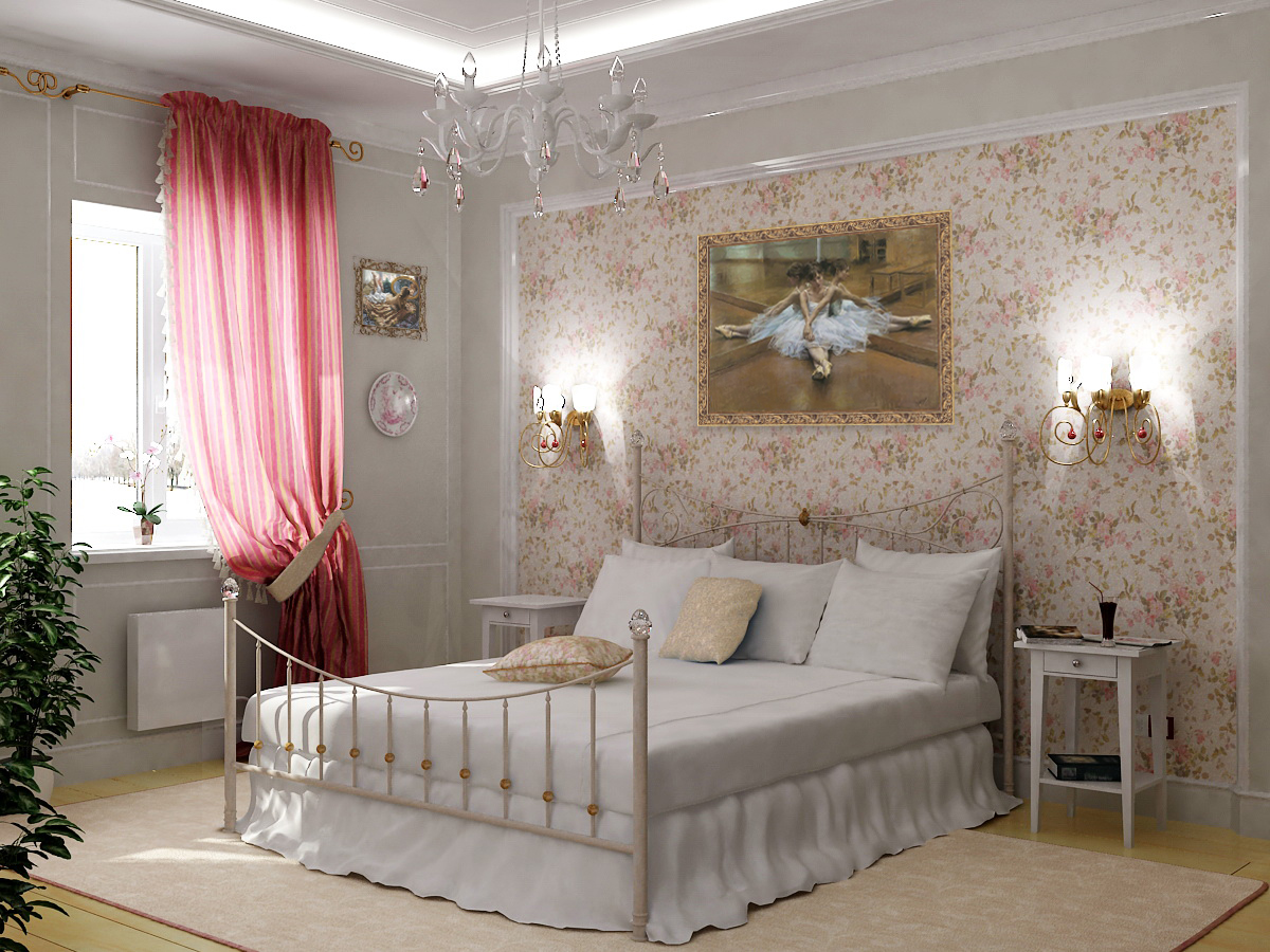 Дизайн спальни стили
