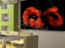 Художественное оформление интерьера дома. Картина Д.Харрис - Восточные маки
