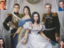 Портрет по фотографии. Шикарный семейный портрет в историческом стиле