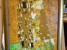 """Репродукция картины. Густав Климт """"Поцелуй"""""""