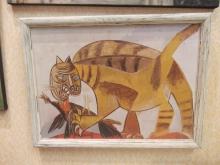 """Репродукция картины. 1155_44x32 П. Пикассо """"Кот пожирающий птицу"""""""