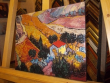 """Репродукция картины. Ван Гог """"Пейзаж с домом и земледельцем"""""""