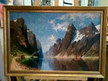 """Репродукция картины. Елизабет Груттефайн """"Озеро в горах"""""""
