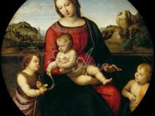 1668_70х69_Рафаэль - Мария с младенцем, Иоанном Крестителем и младенцем Иисусом Христом