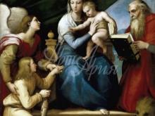 1670_80х59_Рафаэль - Мадонна с младенцем с архангелом Рафаилом, Товией и св Иеронимом
