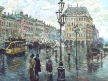 1087_40x23 Городская улица в начале 20 века