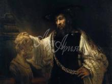 1296_60х57_Рембрандт  ван Рейн - Аристотель с бюстом Гомера