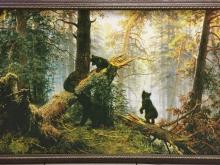 НОРД. Холст, имитация масла. 75х48 И.И. Шишкин Утро в сосновом лесу- 5300р