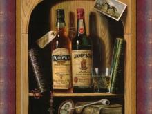 Кэмпбелл Реймонд - Ирландский виски, 28х22см 1500руб (репродукция на холсте,рама дерево)