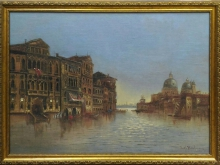 Карл Кауфман-Венеция 55х41см 3500руб (репродукция на холсте, рама пластик)