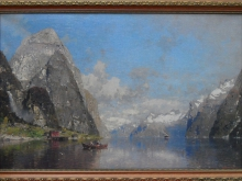 Г.А. Расмуссен - Норвегия, 39х60см 3900руб (репродукция на холсте, рама пластик)