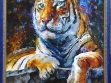 Тигр, 26х22см - 1500руб