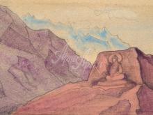 2140_40x25 Рерих «Этюд с образом Майтрей, высеченным на скале»