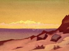 2157_40x26 Рерих «Граница Тибета.Кайдам»