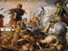1838_80х125_П.П.Рубенс - Охота на волка и лису