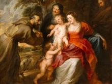 Рубенс Питер Пауль. Св. семейство со св. Франциском и Анной и младенцем св. Иоанном Крестителем