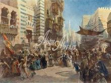 2074_60x40 Маковский К.Е. - Перенесение священного ковра в Каире