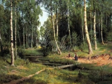 2100_Шишкин - Ручей в березовом лесу