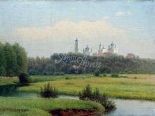 2277_60х43_Кондратенко Г.П. - Летний пейзаж.Вид на монастырь