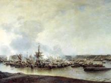 2387_55х31_Боголюбов А. П. - Сражение при Гангуте 27 июля 1714 года