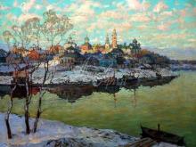 2443_60х45_К.И. Горбатов  - Ранняя весна. Город на реке