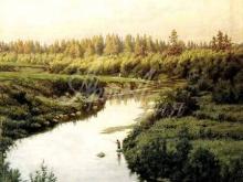 2464_60х45_П. А. Брюллов - Пейзаж с рекой
