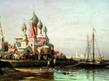 2489_70х40_А.П. Боголюбов - Крестный ход в Ярославле