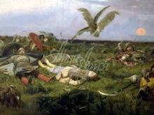 2539_70х37_В.М. Васнецов - После побоища Игоря Святославича с половцами